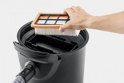 Плоский складчатый фильтр к пылесосам для уборки золы